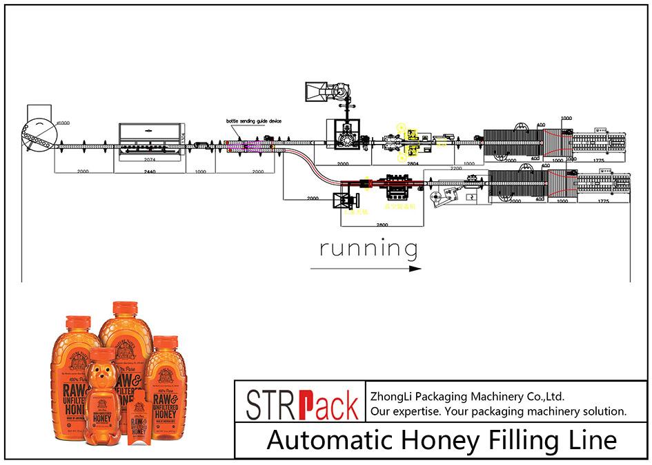 Automātiskā medus uzpildes līnija