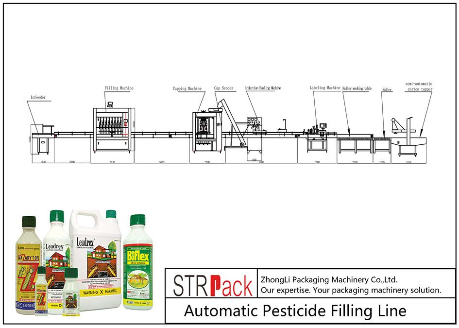 Automātiska pesticīdu uzpildes līnija