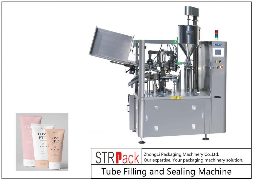 Plastmasas cauruļu aizpildīšanas un blīvēšanas mašīna SFS-100